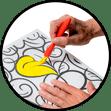 Kleuren voor ouderen en volwassenen