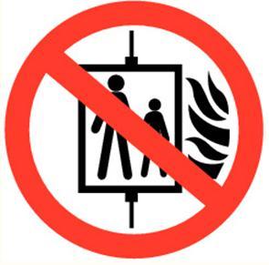 "Pictogramme Pikt-O-Norm ""Lift verboden bij brand"""