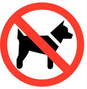 """Pictogramme Pikt-O-Norm """"honden verboden"""""""