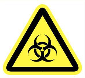 """Pictogramme Pikt-O-Norm """"biologisch gevaar"""""""