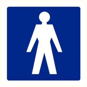 """Pictogramme Pikt-O-Norm """"toilet heren"""""""