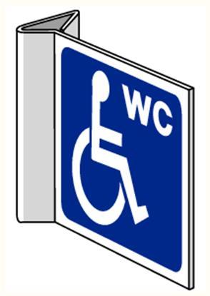 """Pictogramme Pikt-O-Norm """"wc mindervaliden"""""""