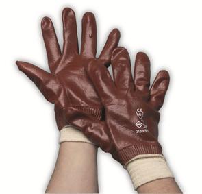 PVC rood werkhandschoen