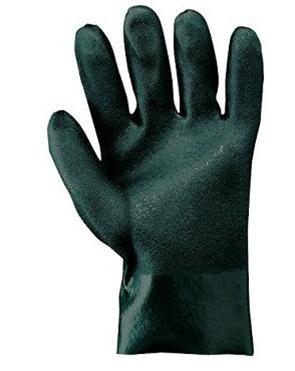 PVC groen werkhandschoen