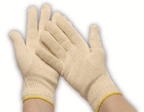 Rondgebreide handschoen