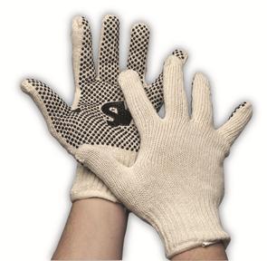 Rondgebreide dots handschoen