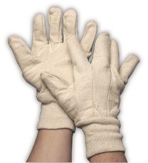 Jersey handschoen ecru