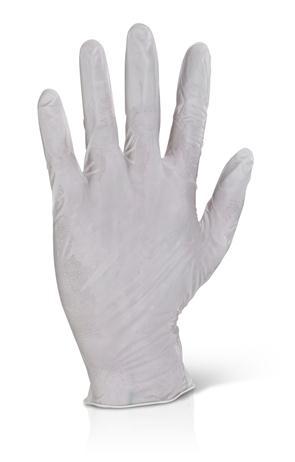 Latex wegwerphandschoen
