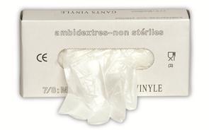 Vinyl wegwerphandschoen (prijs per doos)