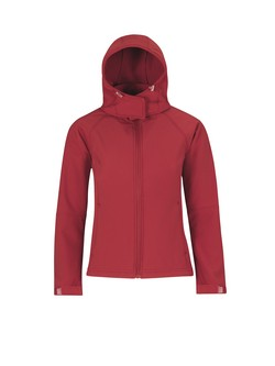 B&C Hooded Women softshell jas