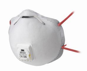 3M 8833 Comfort stofmasker FFP3 met ventiel