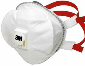 3M 8835+ Premium voorgevormd stofmasker met ventiel
