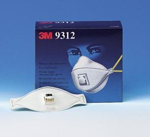 Masque pliable anti-poussière avec soupape 3M *9312