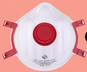 FS Simpla P3 voorgevormd stofmasker met ventiel