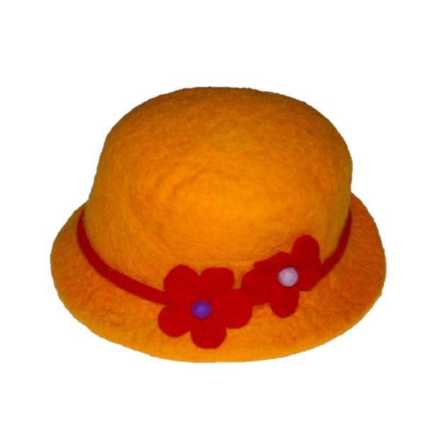 Hoed Bloem Oranje