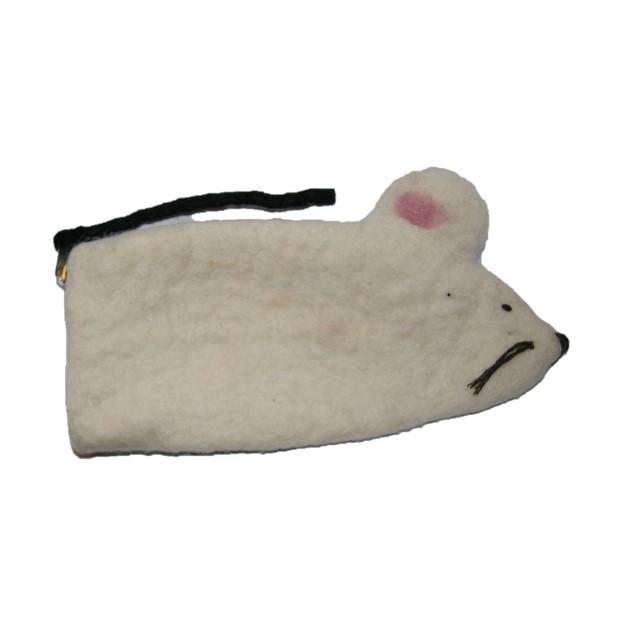 Etui muis wit