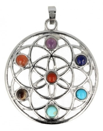 Chakra hanger Flower of life 40mm