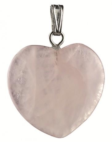 Rozekwarts hart hanger 20mm