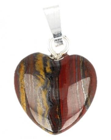 Tijgerijzer hart hanger 20 mm