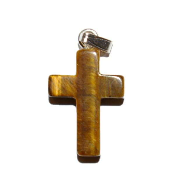 Tijgeroog hanger kruis
