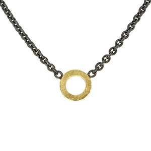 Necklace with open circle