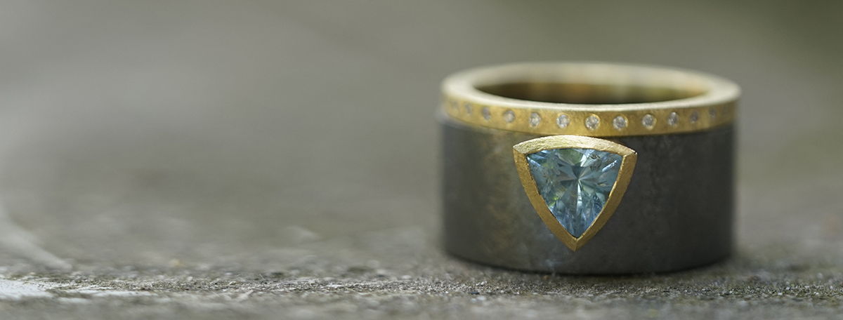 Rings, silver and gold, BEbold-jewelry