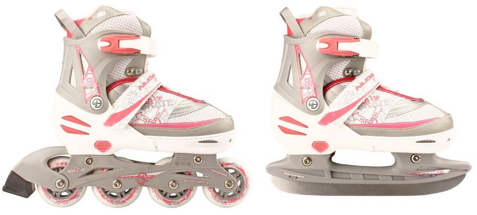 f1ffa935986 Skates/schaats Combo kleur = wit/zilver/roze van BK-Sport Winter
