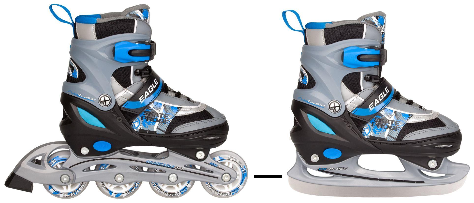 348f028616a Skates/schaats Combo kleur = zwart/zilver/blauw van BK-Sport Winter