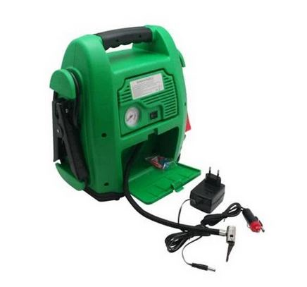 Jumpstarter 12v 17AH + compressor + USB + lamp