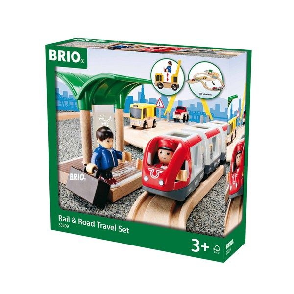 BRIO Spoor & weg reisset