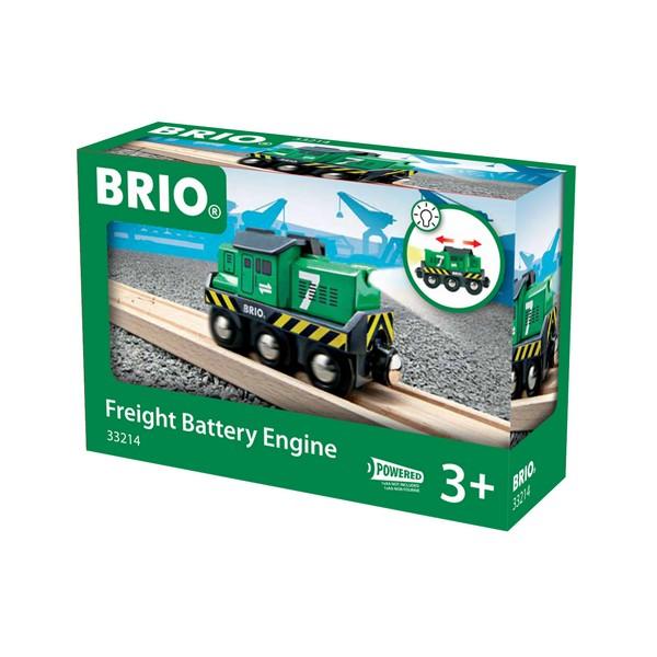 BRIO Locomotief voor goederentrein op batterijen