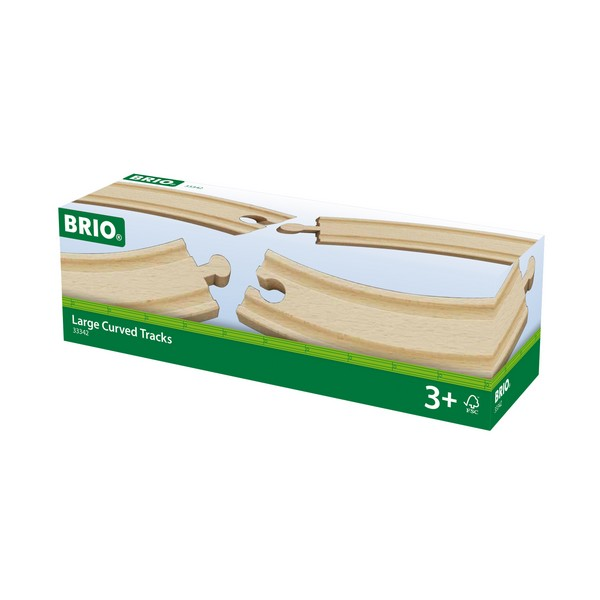BRIO Lange gebogen rails