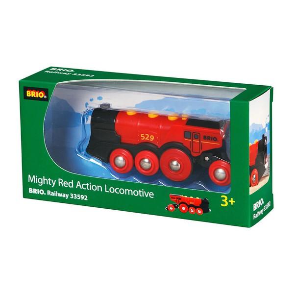 BRIO Rode locomotief op batterijen