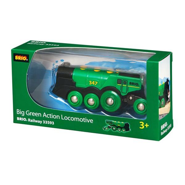 BRIO Grote groene locomotief op batterijen