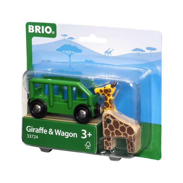 BRIO Wagon met giraffe