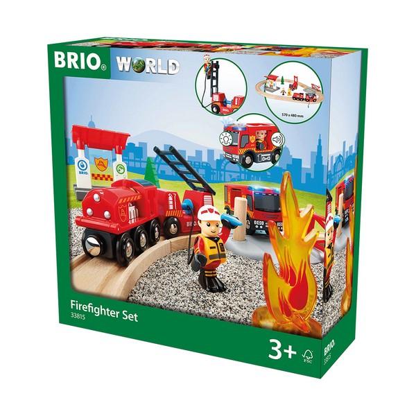 BRIO Treinset bij de brandweer