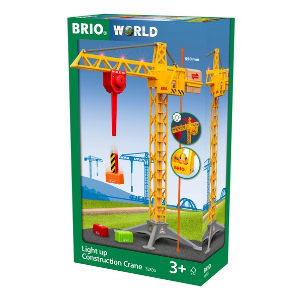 BRIO Light Up-bouwkraan