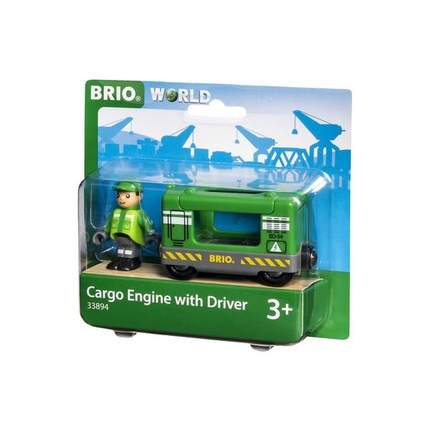 BRIO Vrachtlocomotief met machinist