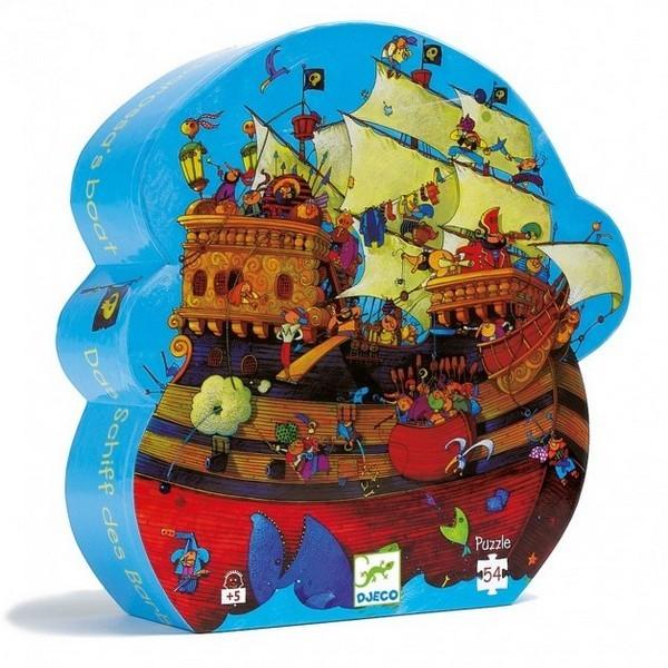Silhouet Puzzel Piratenschip