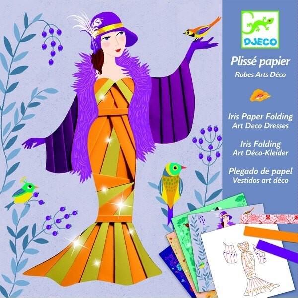 Vouwpapier Art Deco Jurk