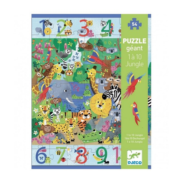 XXL Puzzel 1 tot 10 Jungle