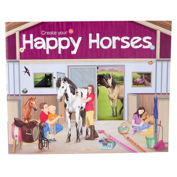CreativeStudio Maak je eigen Blije Paarden Stickerwereld