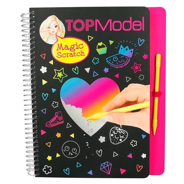 TOPModel Magic Scratch Kleurboek Rainbow Heart