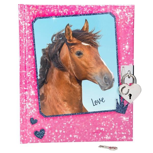 Horses Dreams Dagboek Glitter Roze