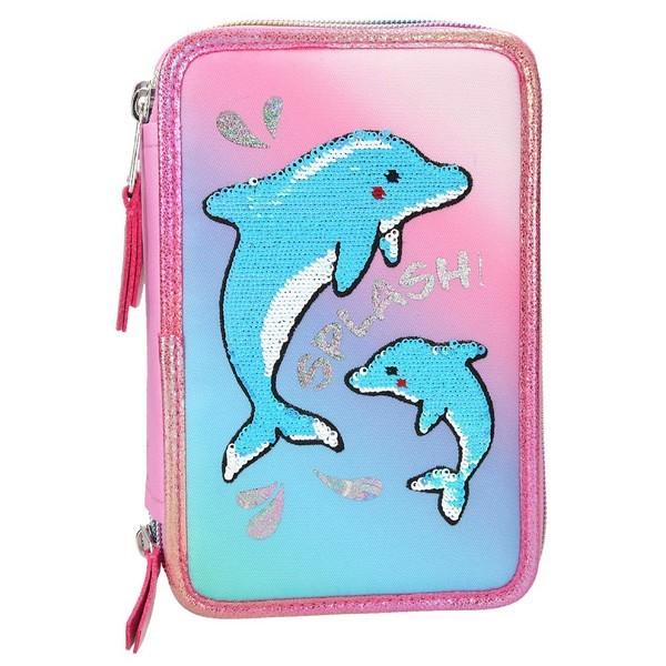 FANTASYModel Kleurpotloden & Viltstiften Etui Dolfijnen