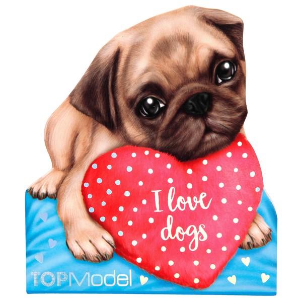 TOPModel Silhouet Notitieblok Hondenliefde