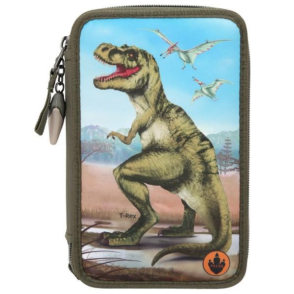 Dino World Kleurpotloden & Viltstiften Etui T-Rex