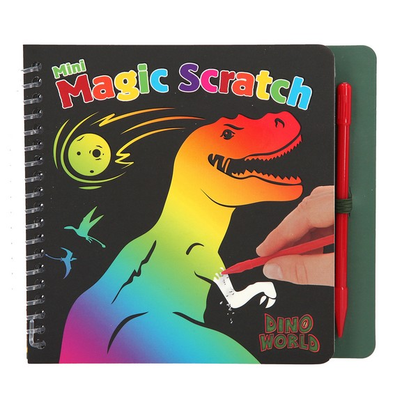 Dino World Mini Magic Scratch Kleurboek