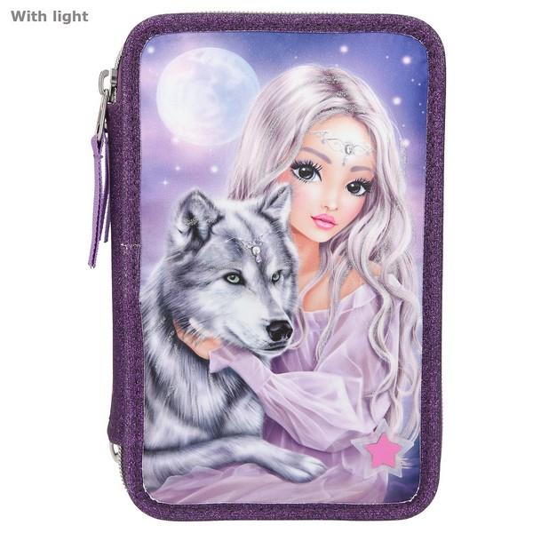 FANTASYModel Kleurpotloden & Viltstiften Etui met licht Wolfprinses