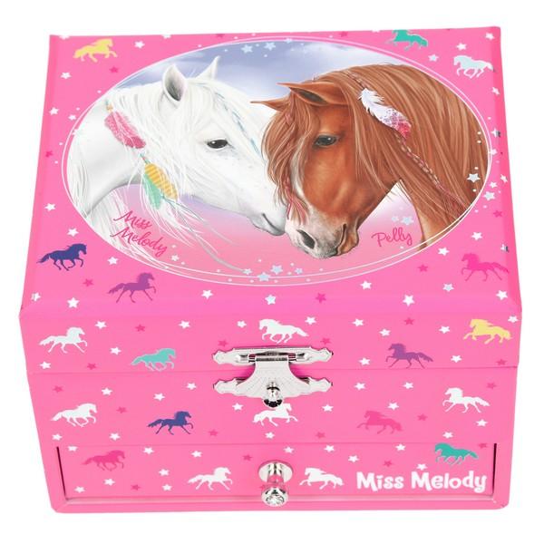 Miss Melody Muziekdoos Witte Merrie